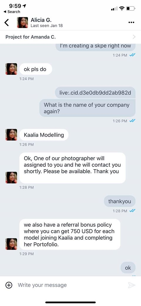 Alicia G Fraud Scam
